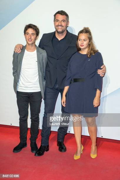 Orfeo Campanella Araud Ducret and Lucie Fagedet attend Closing Ceremony during 19th Festival of TV Fiction at La Rochelle on September 16 2017 in La...