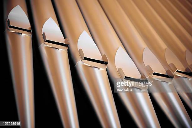 organ pipes detail - church organ stock pictures, royalty-free photos & images