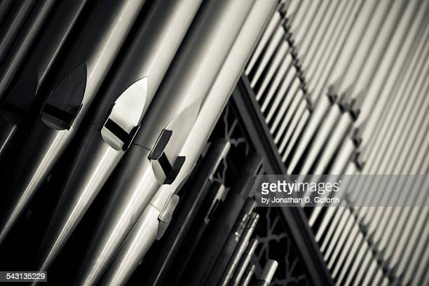 organ pipes - church organ stock pictures, royalty-free photos & images