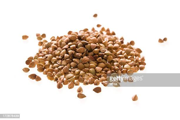 organic buckwheat isolated - buckwheat stock pictures, royalty-free photos & images