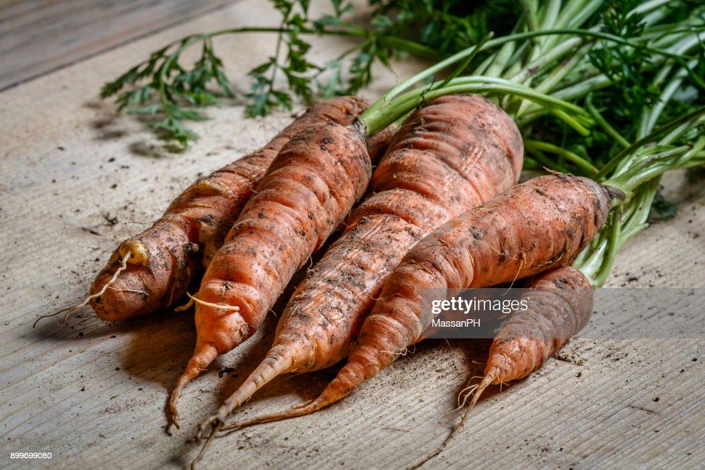 Organic carrots : Stockfoto