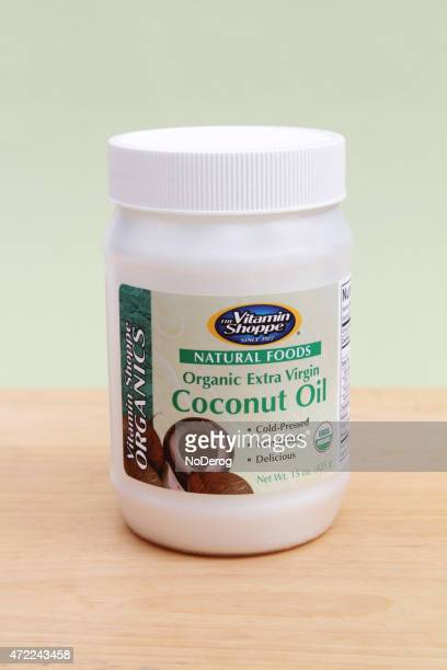organic coconut oil - coconut oil stock pictures, royalty-free photos & images