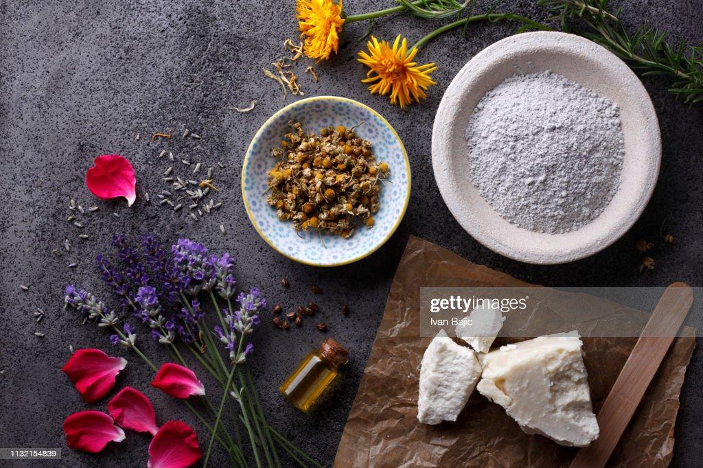 Organic Cosmetic Ingredients : Stock Photo