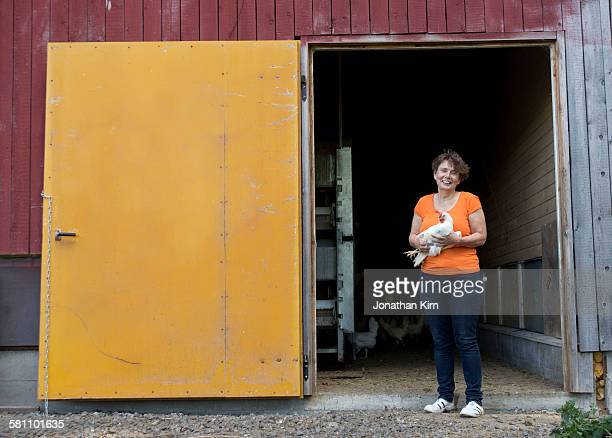 Organic egg farmer portrait.