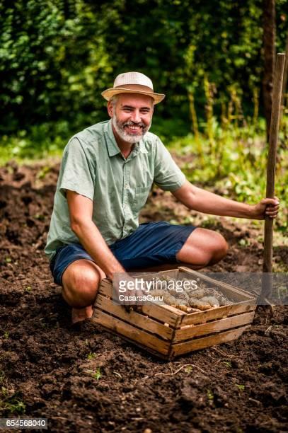 Organic Farmer Pride Of His Crop