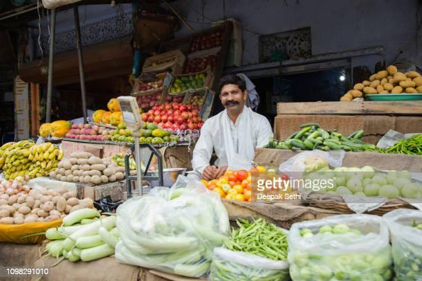 Organic Farmer - Stock image