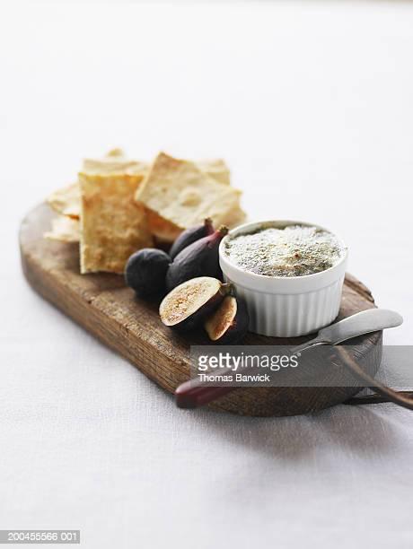 Organic figs, stilton blue cheese brulee and fennel flatbread