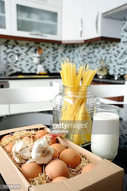 Organic food in kitchen