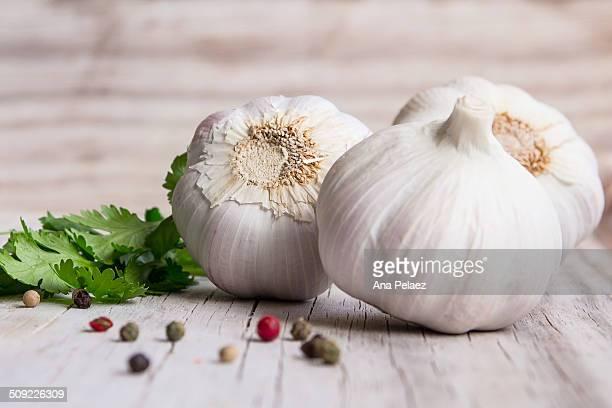 Organic garlic and pepper