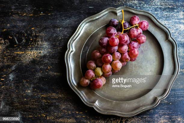 Organic grape on rustic background