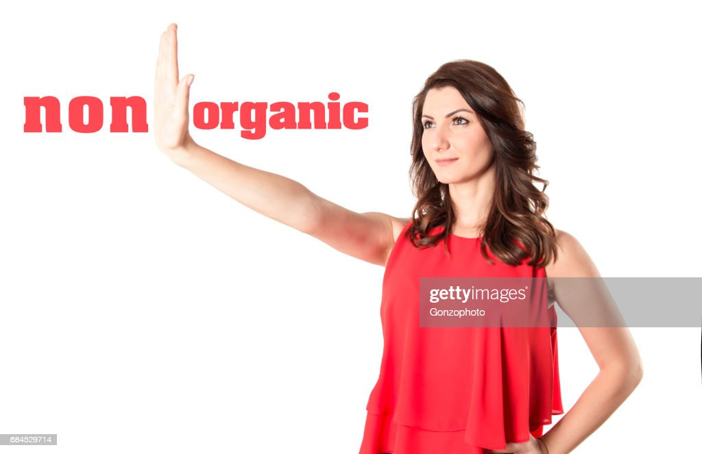 Organic / Healthcare concept with a woman