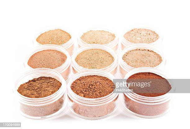 organic mineral makeup - mineral stock pictures, royalty-free photos & images