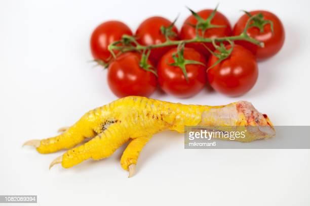 Organic, Raw chicken feet