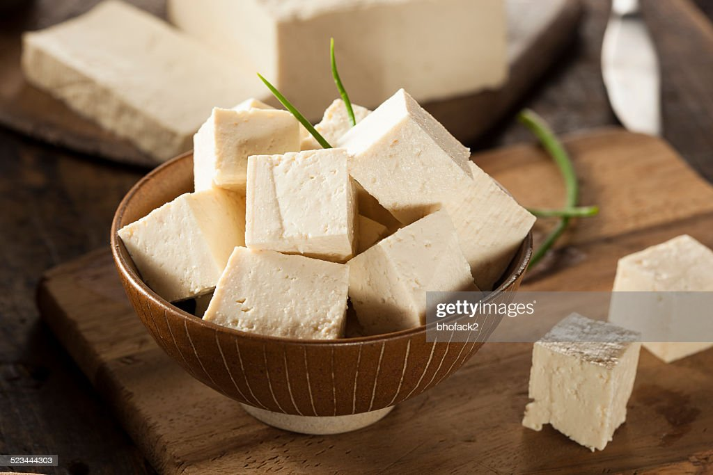 Organic Raw Soy Tofu : Stock Photo