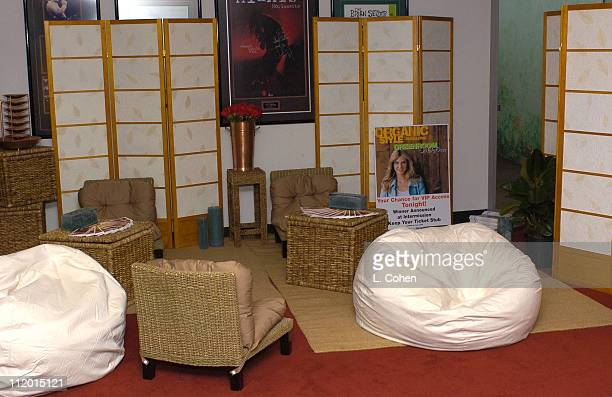 Organic Style Magazine Green Room during Organic Style Magazine's Green Room Makeover at Greek Theater in Los Angeles California United States