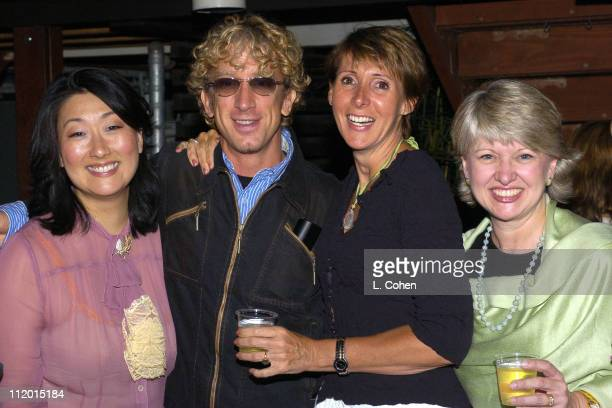 Organic Style Magazine's Jeanie Pyun Denise Favorule and Bernadette Harrison Haley with Andy Dick