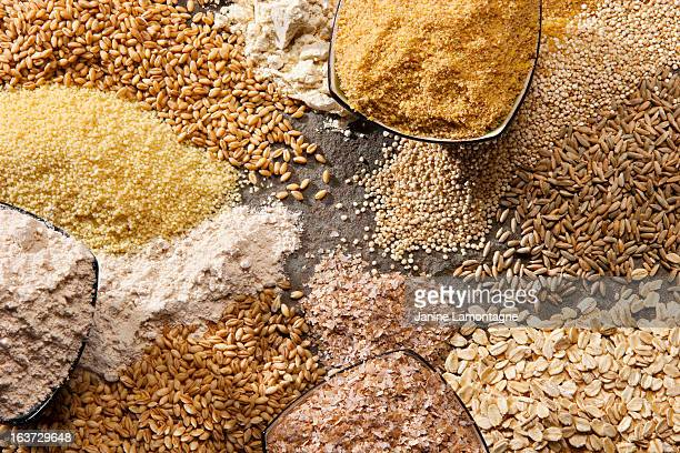 organic whole grains - cereal plant stock pictures, royalty-free photos & images