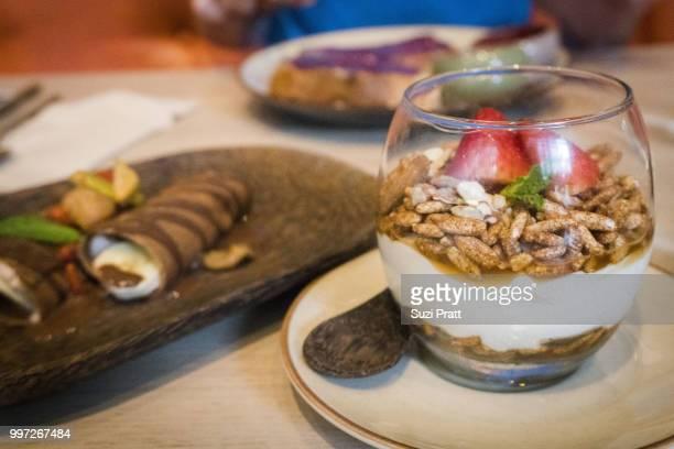 Organic Yogurt, Muesli and Strawberries Hong Kong