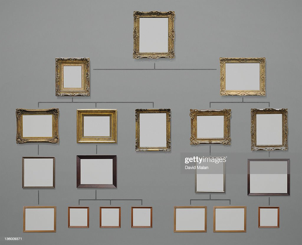 Organisation Chart Using Picture Frames Stock Photo | Getty Images