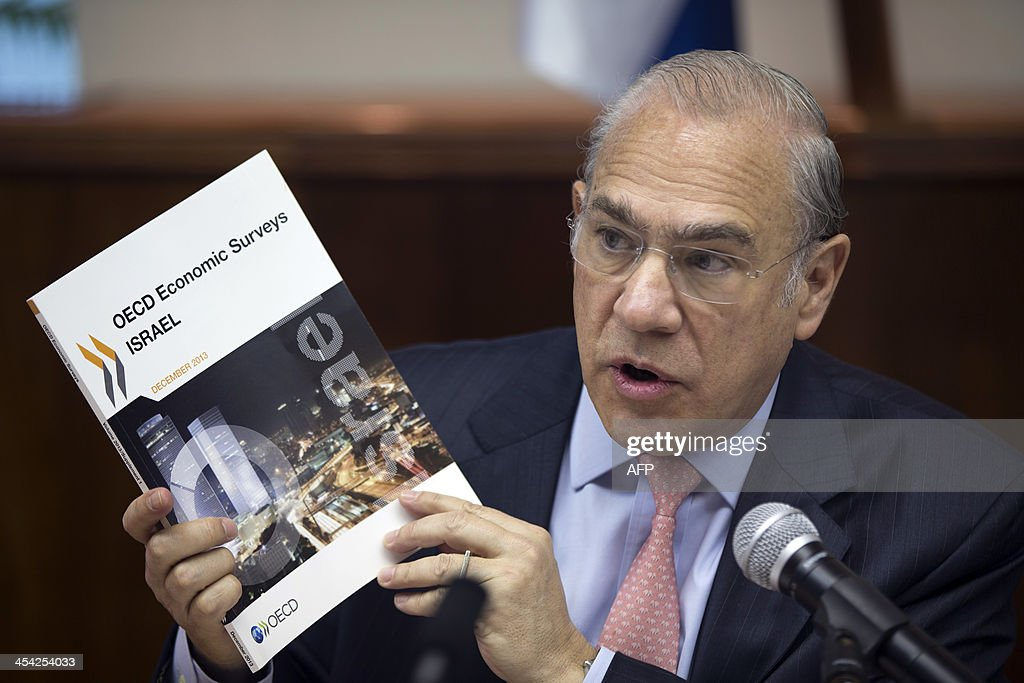 Organisation for Economic Co-operation and Development (OECD) Secretary General Angel Gurria speaks as he attends the weekly Israeli cabinet meeting in Jerusalem on December 8, 2013.