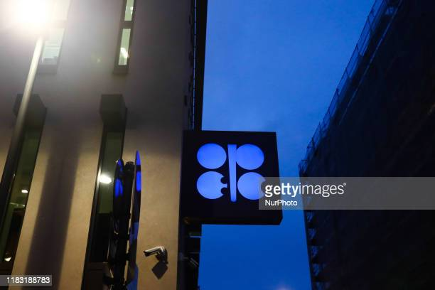 Organisation of the Petroleum Exporting Countries OPEC logo is seen on the organisations' headquarters in Vienna Austria on December 17 2018