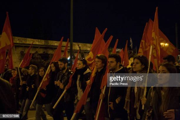 organised a anti war and anti imperialist demonstration in Syntagma square