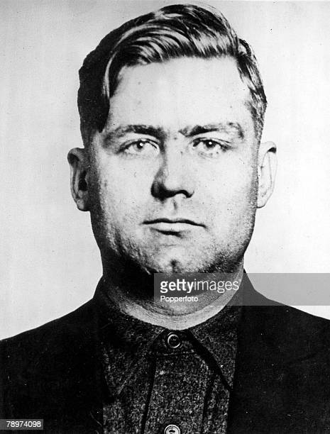 Organised Crime 1930s Chicago USA The mugshot of Prohibition time Mafia Gangster George Bugs Moran