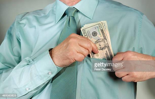 organised crime/bribe - tax fraud stock-fotos und bilder