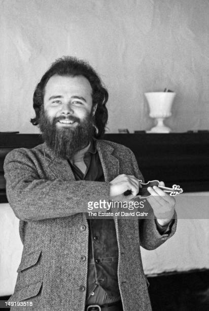 Organist and keyboardist Garth Hudson of the rock group The Band poses for a portrait in December 1969 in Woodstock New York
