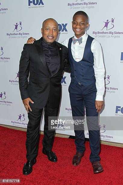 Organization leader Daymond John and presenter Moziah Bridges arrives at the Big Brothers Big Sisters Of Greater Los Angeles Host Annual Big Bash...