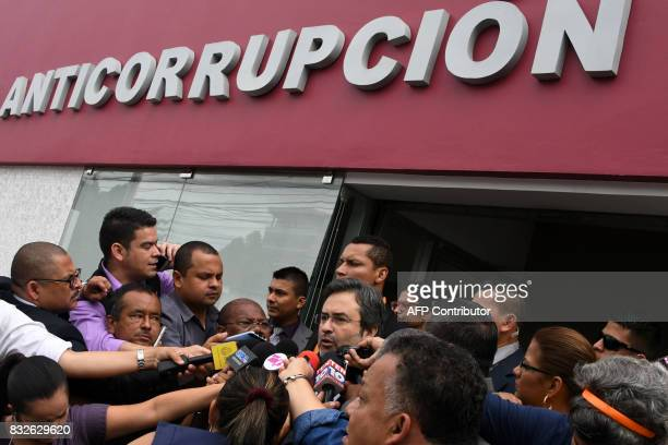 Organization of American States Support Mission Against Corruption and Impunity in Honduras Juan Jimenez Mayor arrives at the national Anticorruption...