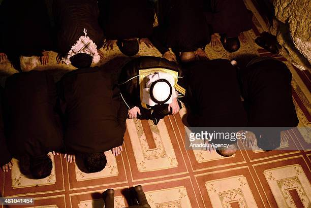 Organization of the Islamic Conference SecretaryGeneral Iyad Emin Medeni performs friday prayer at the Foundation Stone located under the Dome of the...
