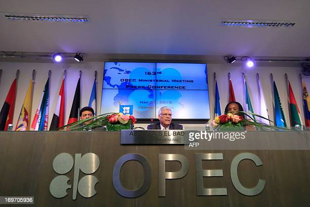 Organization of the Petroleum Exporting Countries Secretary General Libya's Abdalla Salem ElBadri answers to journalists during a press conference as...