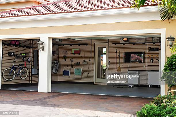 organization: well organized garage - storage compartment stock pictures, royalty-free photos & images