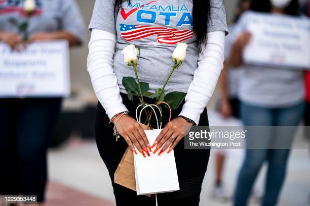 Organized by Mi Familia Vota, Latino women rally to celebrate the political influence of Latinas in US politics and to get out the vote in Nevada in...