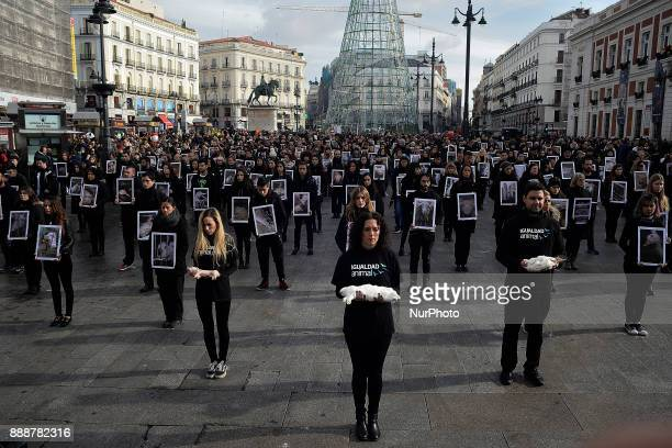 Organized each year by international animalrights organization Igualdad Animal protest event with more than 400 activists and supporters of animal...