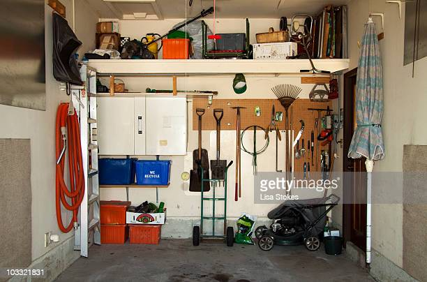 organized garage - garage stock pictures, royalty-free photos & images
