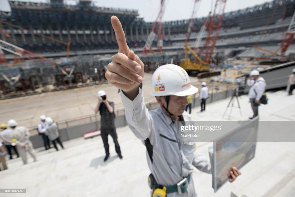The new National Stadium Under Construction Is Opened To Media