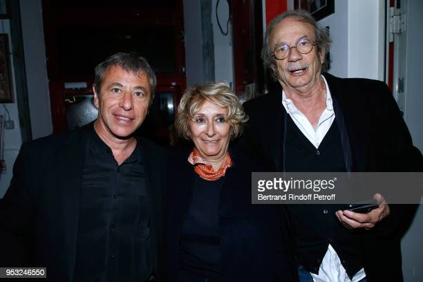 Organizer of the event LouisMichel Colla Patrick Chesnais and his wife Josiane Stoleru attend the Dinner in honor of Nathalie Baye at La Chope des...