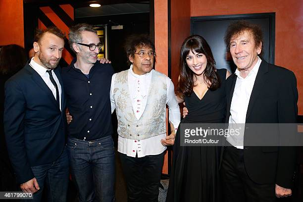 Organizer of the Event Pierre Souchon Singers Vincent Delerm Laurent Voulzy Nolwenn Leroy and Alain Souchon attend the '10th Charity Gala Against...