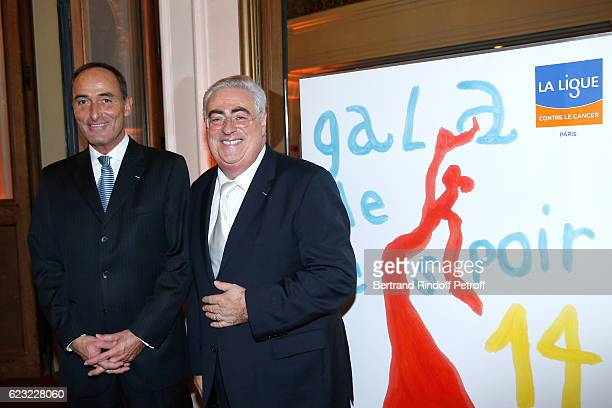 Organizers of the event Herve MichelDansac and JeanMichel Aubrun attend the 24th Gala de l'Espoir at Theatre du Chatelet on November 14 2016 in Paris...