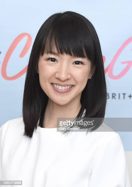 Organizing consultant and author Marie Kondo visits the Brit Co #CreateGood Wellness event at Build Studio on October 18 2018 in New York City