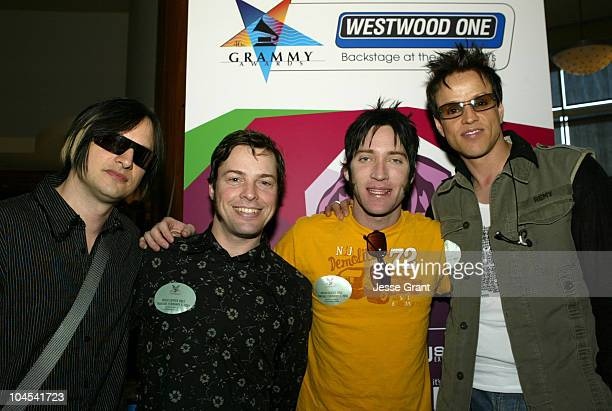 Orgy and Lit during Westwood One Backstage at the GRAMMYS at Staples Center in Los Angeles California United States