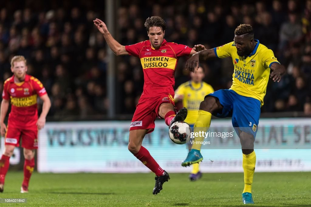 Orhan Dzepar Of Go Ahead Eagles Emmanuel Mbende Of Sc Cambuur During News Photo Getty Images
