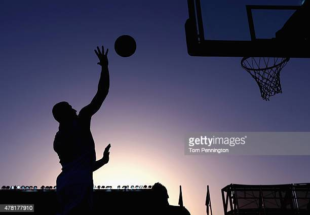 Orhan Haciyeva of Azerbaijan shoots the ball against the Czech Republic during the Men's 3x3 Basketball Pool D match on day eleven of the Baku 2015...
