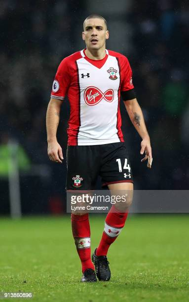 Orial Romeu of Southampton during the Premier League match between West Bromwich Albion and Southampton at The Hawthorns on February 3 2018 in West...