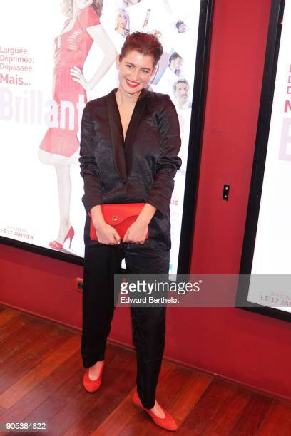 Oriane Deschamps is seen during the 'Brillantissime' Photocall at Publicis Champs Elysees on January 15 2018 in Paris France