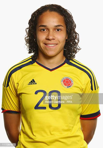 Orianica Velasquez of Colombia during the FIFA portrait session on June 25 2011 in Cologne Germany