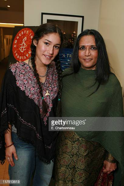 Q'Orianka Kilcher and Director Deepa Mehta during Amnesty International and Fox Searchlight Pictures special screening of 'Water' at Clarity Theatre...