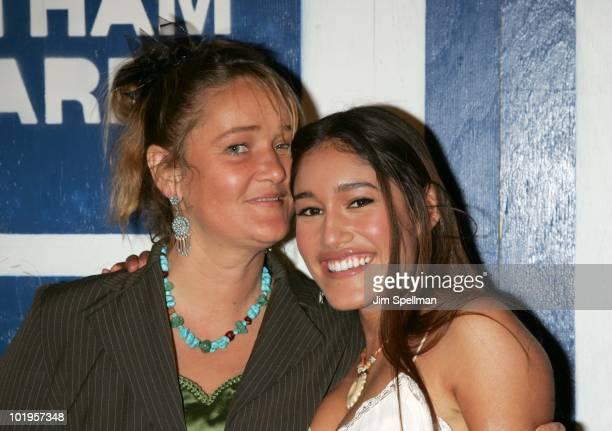 Q'orianka Kilcher and her mother Saskia